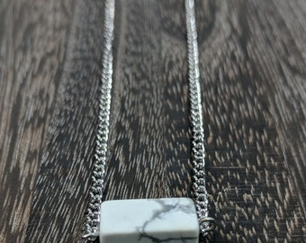 Howlite Silver Necklace