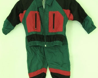 Marked Down@@A Vintage 90's Baby Boy's 2Pc NYLON JOGGING SUIT By The J.P.I. Co.24mo