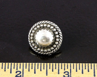 Vintage Silver Domed Buttons, 5 pieces  09586AS