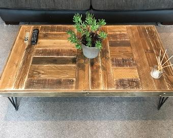 Coffee table - rustic, reclaimed wood