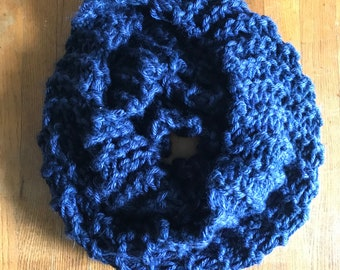 Double knitted infinity scarf