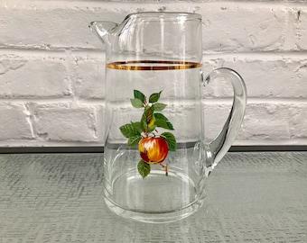 West Virginia Glass Fruit Pitcher