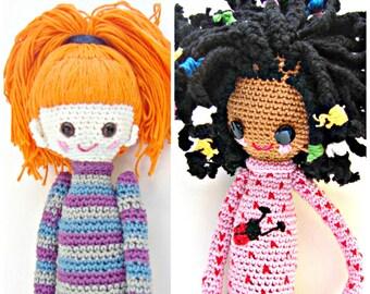2- Crochet Pattern Special Deal, Buy the Crochet Doll Desireè Pattern and the Crochet Doll Bel Pattern for Euro 10.00, crochet pattern