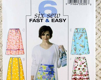 Butterick 4461, Misses' Skirt Sewing Pattern, 6 A-Skirt with Ribbon Variations Sewing Pattern, Easy Skirt Pattern, Misses Size 8 - 14, Uncut