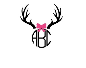 Bow Antlers SVG, DXF Files for Cricut Design Space, Silhouette Studio, Die Cut, Instant Download of svg, dxf, & jpg,