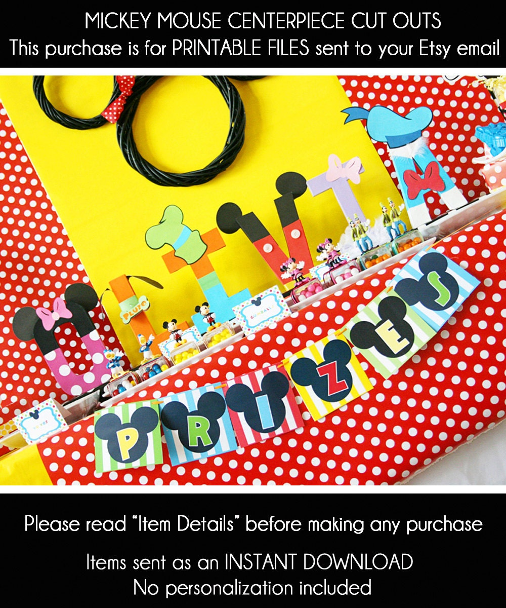 Mickey Mouse Birthday Centerpiece Mickey Mouse Party
