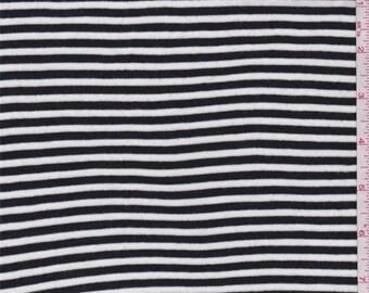 Black/White Stripe T Shirt Knit, Fabric By The Yard