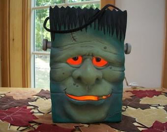 Ceramic Halloween Frankenstein lighted monster Bag