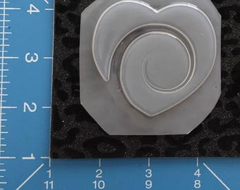 Swirling Heart Mold