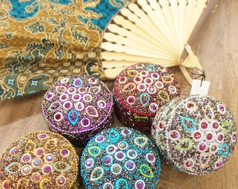Embellished jewelry containers