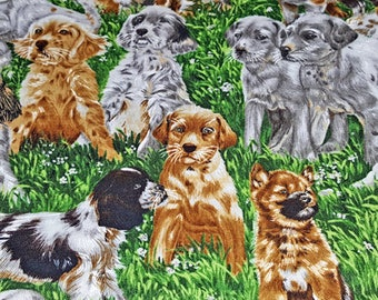 DOG BREED PUPS On Fabric-Puppies on Fabric