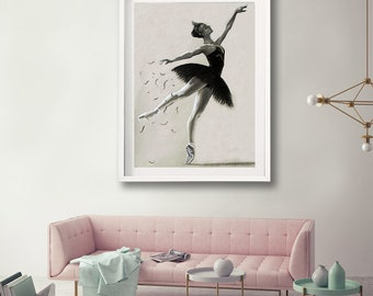 "limited edition Giclee print ""Odile"" Swan lake collection"