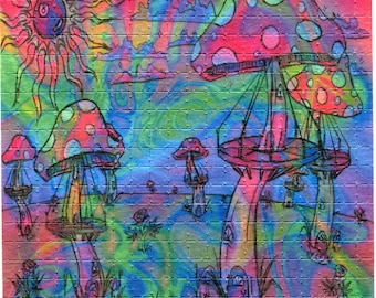 Psychedelic Blotter Art Print perforated sheet 400 hits Acid Free paper