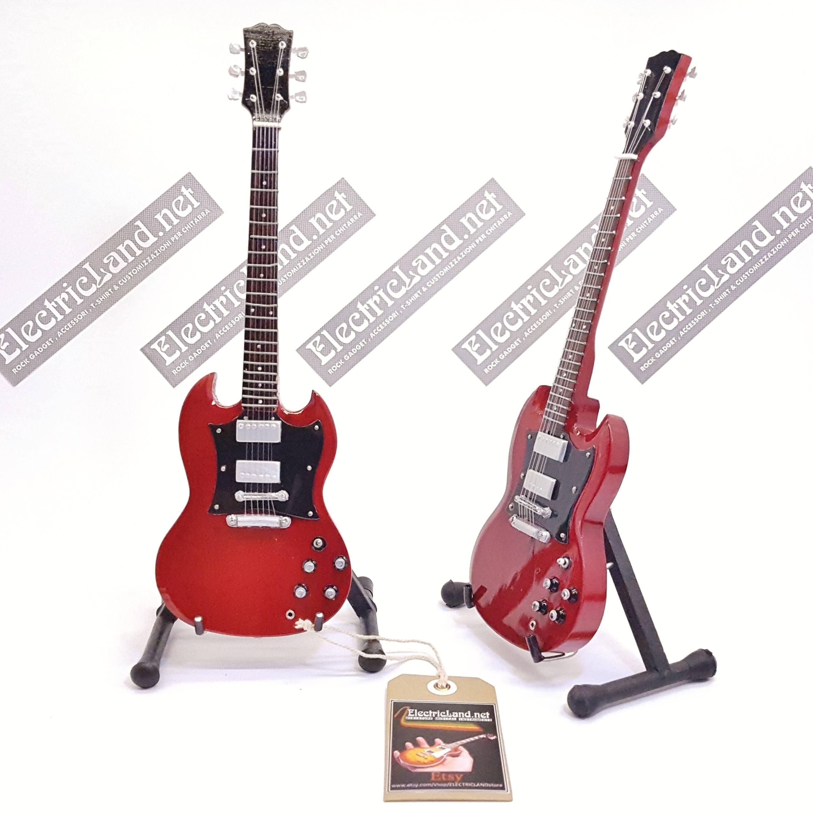 angus young ac-dc miniature mini guitar gibson sg