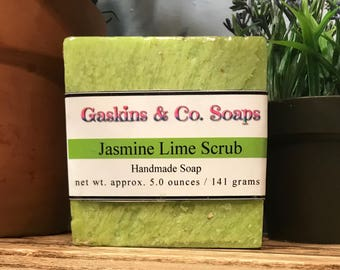 Jasmine Lime Scrub Handmade Soap | Made With Shea Butter & Olive Oil