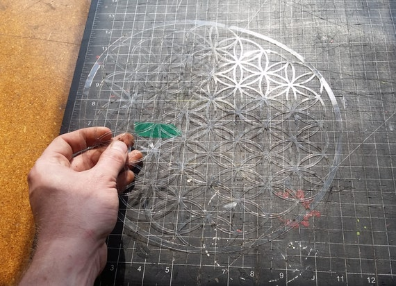 Full Bloom Flower of Life Sacred Geometry Stencil