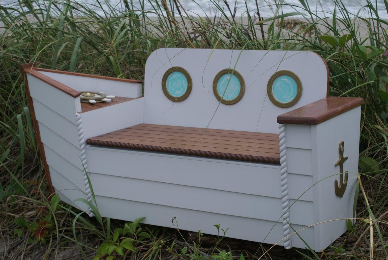 jouet boîte coffre à jouets pépinière nautique banc de