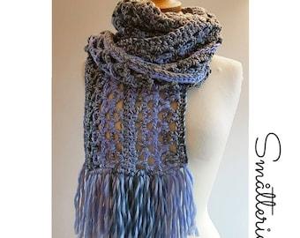 Crochet Scarf in Myriad of Triangles Pattern.