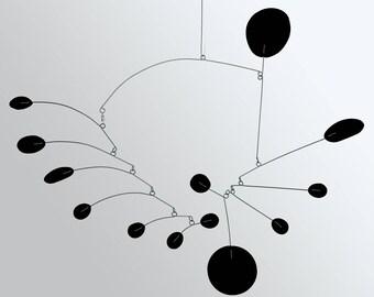 PAPILLON Mobile - Black Hanging Modern Mobiles in 3 Sizes - Calder Butterfly Inspired Retro Home Decor Art by Atomic Mobiles