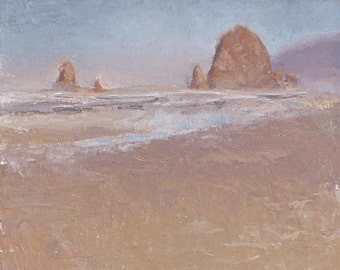 Coastal Escape - Oregon Coast Haystack Rock Plein Air Painting at Cannon Beach