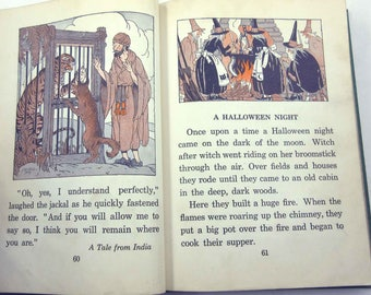 The Children's Own Readers Vintage 1920s Childrens School Reader or Textbook Book Three Includes Halloween