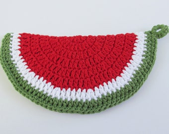 Watermelon Potholder, Hot Pad for Summer, Old Fashioned Pot Holder