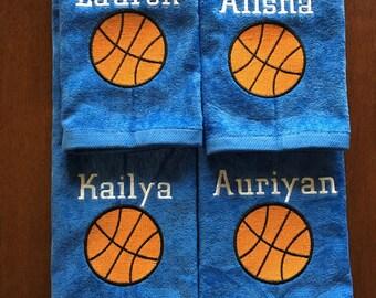 Custom Personalized basketball towel, great seller, basketball team towels, basketball gift, 16 x 26 or 11 x 17