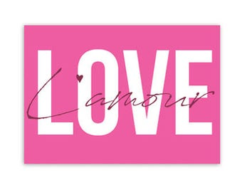 Card, Love, Tyografie, love, colorful, post, stationary, A6