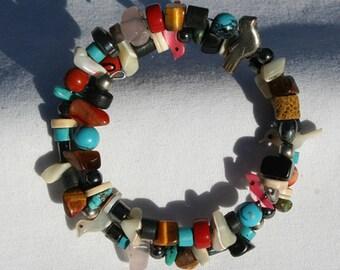 Vintage Zuni Coil Wrap Bracelet