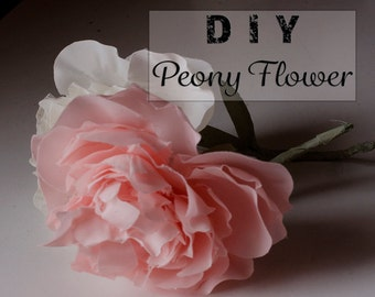 Peony Template and Free Video Instructions- (pdf, svg & dxf files) Flower Making