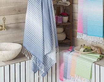 Rainbow Peshtemal Towel Green Beach - Bath