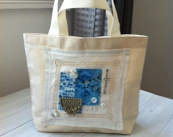 Natural Canvas Personal Tote