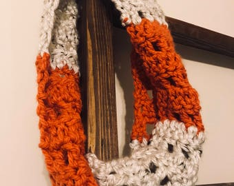 Crochet Neck Scarf / Super Soft