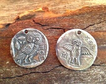 Green Girl Studios Owl Coin