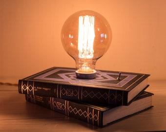 Bedside table lamp with book lamp Bedside Vintage Art deco