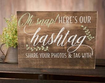 Hashtag Wedding Sign - Hashtag Wood Sign - Custom Wedding Sign - Personalized Wedding Sign - Custom Hashtag Sign- Rustic Wedding Sign