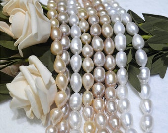 12-15mm teardrop shape and rice shape pearls necklace for design
