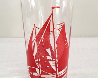 Vintage Sailboat Glass