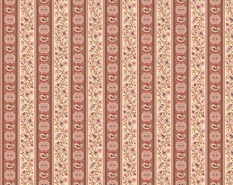 Andover Fabrics - Red Stripe - Carlisle by Kathy Hall - Reproduction