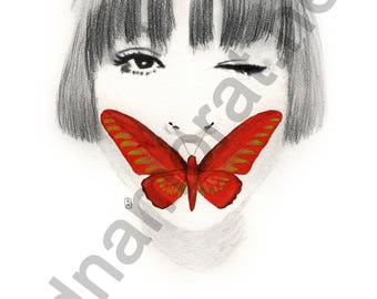 Papillon#4 - poster painting 30x40cm - to download