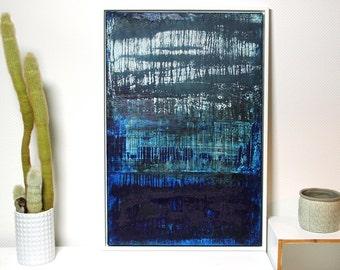"Abstract art 60cm x 90cm title ""BLUE MOON"""
