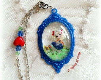 Collana con cammeo blu Candy Candy