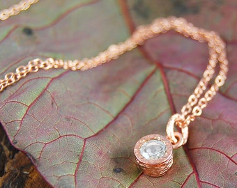 Pendant, Rose Gold Necklace, Necklace Rose Gold, Festival Chic, Boho Necklace, Organic Necklace,Rose Gold Jewelry,Necklace Earring Rose Gold