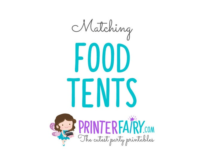 Matching Food tents, Editable food tents