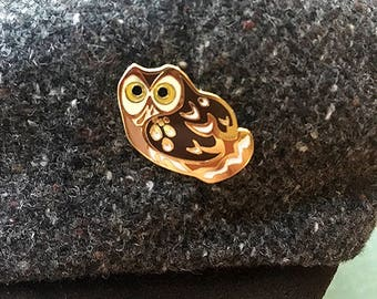 Little Owl Enamel Pin