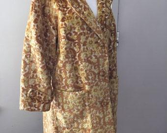 TAPESTRY COAT, 1960s, Size M