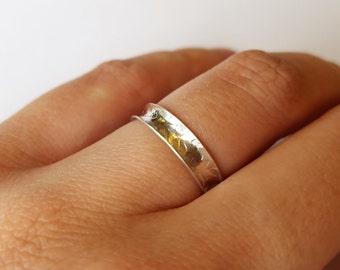 Anticlastic Ring, Silver Ring, Silver Band Ring, Textured Ring, Comfort Fit Ring, Patterned Ring