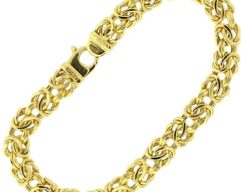 10k Yellow Gold Byzantine Bracelet