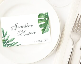 Botanical Cards Wedding Place Cards Table Seating Cards Name Tags Wedding Name Cards Editable Wedding Template Place Setting Cards Template