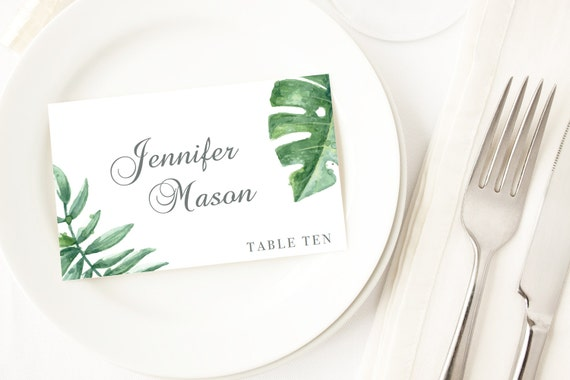 Botanical Cards Wedding Place Cards Table Seating Cards Name